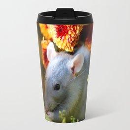 Sweet Floral Rat Travel Mug