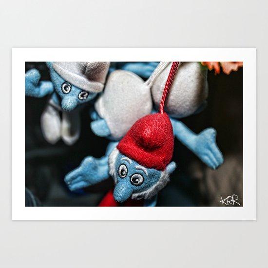 Smurfs Art Print
