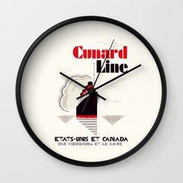 Cunard Line art deco style Wall Clock