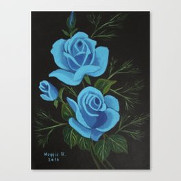 Blue Roses Canvas Print