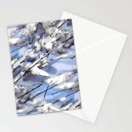 Snow on twigs Stationery Cards