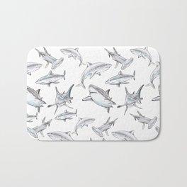 Shark-Filled Waters Bath Mat