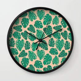 Cheese Plant - Trendy Hipster art for dorm decor, home decor, ferns, foliage, plants Wall Clock