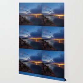 Bluewater Lake Sunset Wallpaper