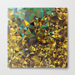Goldish triangulated abstraction Metal Print