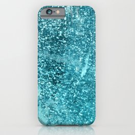 Abstract blue glass -- Macro of a glass shard -- iPhone Case