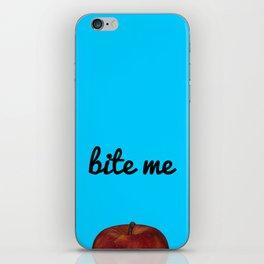 Bite Me - Blue Background iPhone Skin