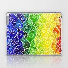 Rainbow Water Waves Laptop & iPad Skin