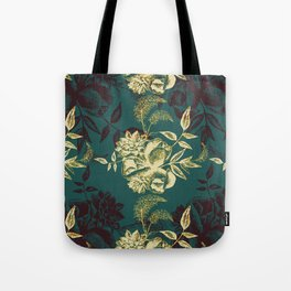 Illustrations of Florals Tote Bag