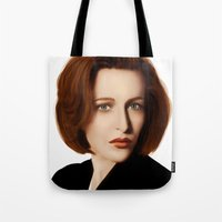 scully Tote Bags featuring Scully by Alexia Rose