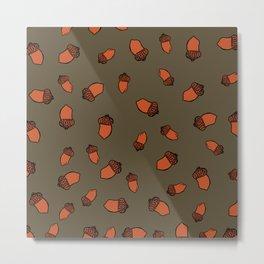 Acorn Surface Pattern Design Metal Print
