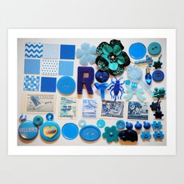Blue Trinkets Art Print