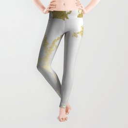 Kintsugi Ceramic Gold on Lunar Gray Leggings