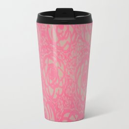 Hot Pink Rose Bed Print Travel Mug
