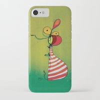 ballon iPhone & iPod Cases featuring Ballon Man by Gokce Gurellier