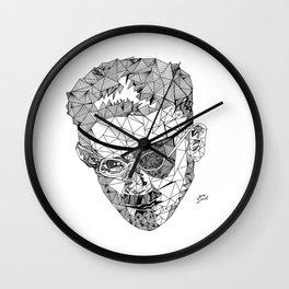 James Joyce - Hand-drawn Geometric Art Print Wall Clock