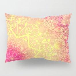 Mandala in Rose and Lemon Pillow Sham