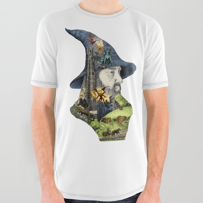 Story of the wizard of the rings All Over Graphic Tee