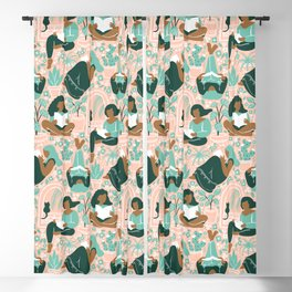 Women Readers - Pattern Blackout Curtain