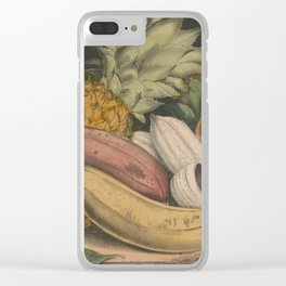 Vintage Illustration of Tropical Fruits (1871) Clear iPhone Case