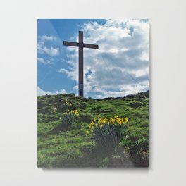 Chevin Cross Metal Print
