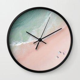 Surf Yoga II Wall Clock