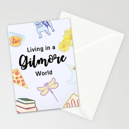 Living in a Gilmore world Stationery Cards