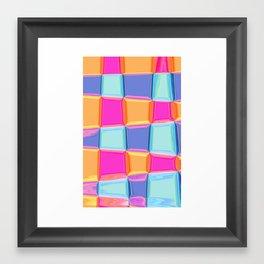 Colourful Square Glass  Framed Art Print