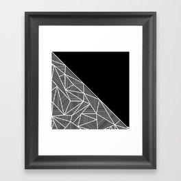 B Rays Geo BW Framed Art Print