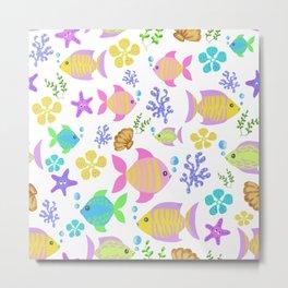 Colourful ocean fish Metal Print