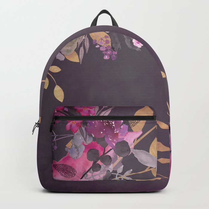 FLOWERS & GOLD  Backpack