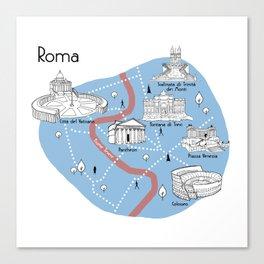 Mapping Roma - Original Canvas Print