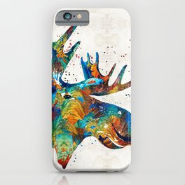 Colorful Moose Art - Confetti - By Sharon Cummings iPhone Case