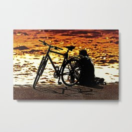 Chilling by the river Metal Print