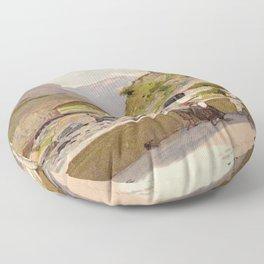 Vintage poster - Fernet-Branca Floor Pillow