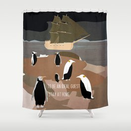 Guests arrive 6 Shower Curtain