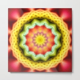 Prismatic Eye Mandala Metal Print
