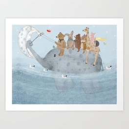 to the ocean Art Print