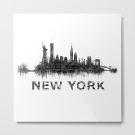 New York NY Skyline. NYC city Metal Print