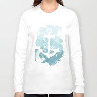 nautical Long Sleeve T-shirts featuring Nautical Watercolor by joeyj