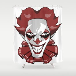 Clown Wicked Common Came creepy horror gift Shower Curtain