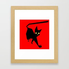 The Strut (Black Cat) Framed Art Print