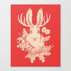 Jackalope Tattoo Canvas Print