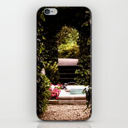 Secret Garden with Frog Prince Fountain iPhone Skin
