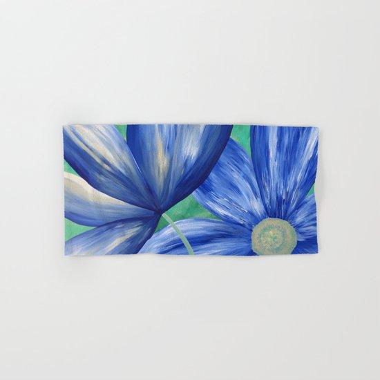 Large Blue Flowers Hand & Bath Towel