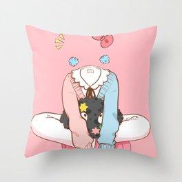 Invisigirl Throw Pillow