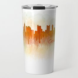 Columbus Ohio, City Skyline, watercolor  Cityscape Hq v3 Travel Mug