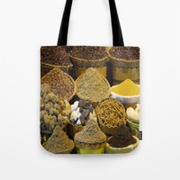 egyptian Tote Bags featuring Egyptian Spices by Brian Raggatt
