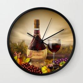 Autumn Wine Wall Clock