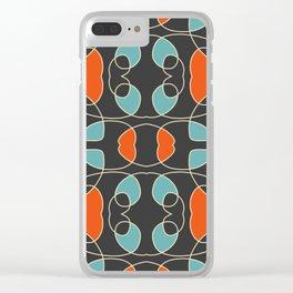 Colorful Retro Design Fall Clear iPhone Case